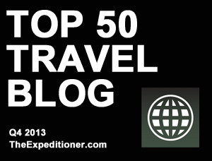 Top 50 Travel Blogs Badge2 Advertising and Partnerships With Inspiring Travellers